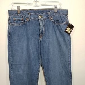 NWT Lucky Brand Dungarees Mid Rise Flare size 10